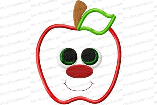 rhoades_apple applique with face 5x6