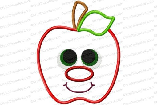 rhoades_apple applique with face 6x8
