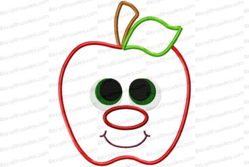 rhoades_apple applique with face 8x10