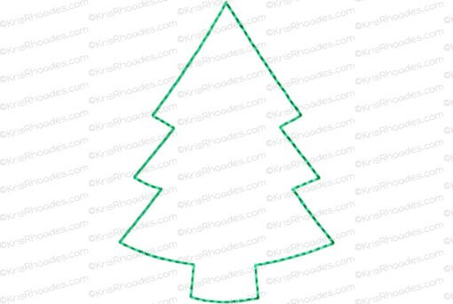 rhoades_cookie cutout ornament tree