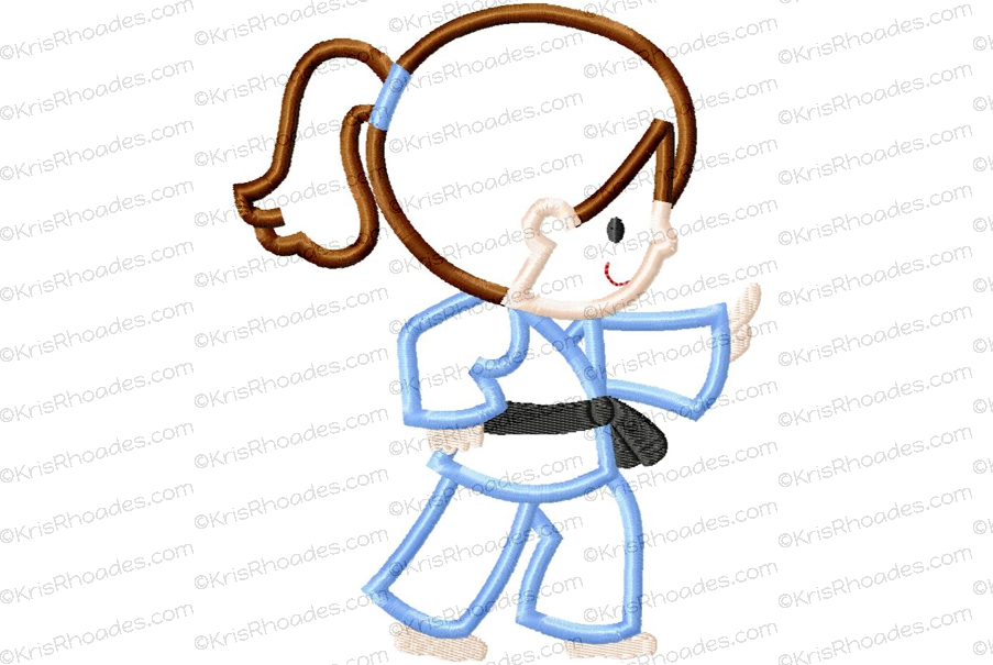 8 Different Sizes for Instant Download Embroidery Design Girl 01 Quick Stitch